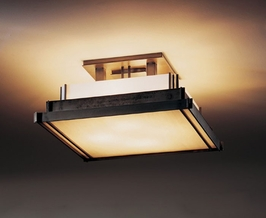 12-3705 Hubbardton Forge Steppe Wrought Iron Semi-Flush Prairie Square