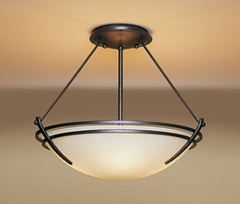 12-4422 Hubbardton Forge Presidio Tryne Wrought Iron Semi-Flush Lighting