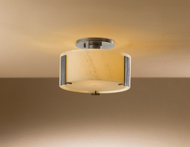 12-6750F Hubbardton Forge Lighting Fluorescent Impressions Semi-flush mount