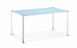 102126 Zuo Modern Slim Dining Table in White Finish