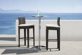 700610 Zuo Outdoor Christabel Folding Bar Table in Aluminum Finish