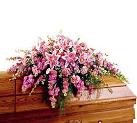 Hot Pink Casket Spray