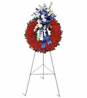 Patriot sympathy wreath