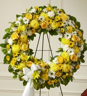 Serene Blessings Standing Wreath - Yellow