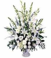 All White Flowers Basket