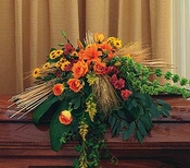 Autumn Faith Casket Spray