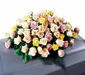 Mixture Roses Casket Spray