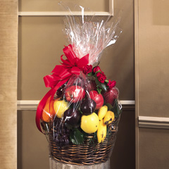 Fruit Basket with floral accent