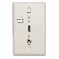 Tripp Lite HDMI Over Cat5 Active Extender Remote Wallplate (White) - B126-1A0-WP
