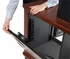 Da-Lite Video Conferencing Equipment Rack Cart w/Wood Finish for Single Monitor