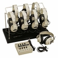 Califone 1218AVP-03 8-Position Monaural Listening Center with Volume Controls and Wire Rack