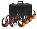 Califone Listening First Animal Stereo Headphone 12 Pack with Storage Pack - 2810-12