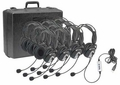 Califone 4100-10 USB Headset 10 Pack with Carry Case