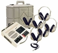 Califone 5262PLC Learning Center with 6 Headphones and Carrying Case