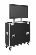 "Jelco EZ-LIFT Shipping and Display TV Lift Case with Storage Lid for 37-46"" Flat Screen Display: 57""H x 48""W x 19""D - EL-42SL"