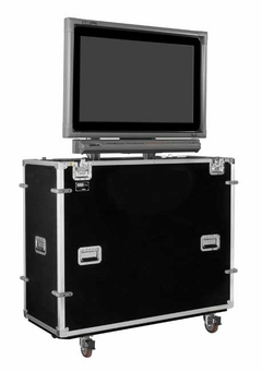 """EZ-LIFT Shipping and Display Lift case for 50"""" Flat screen with SMART Overlay with Storage Lid: 61""""H x 61""""W x 22""""D - ELS-50SL"""