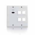 TruLink Dual Gang HDMI� over Cat5 Wall Plates
