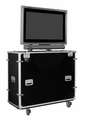 "EZ-LIFT Shipping and Display Lift case for 50"" Flat screen with SMART Overlay with Storage Lid: 61""H x 61""W x 22""D - ELS-50SL"