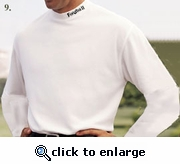 Mock Neck Long Sleeve, White