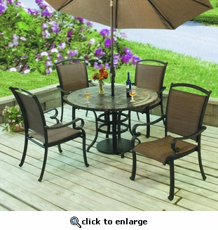 Terrace Stone Table Dining Set/5 (MF)