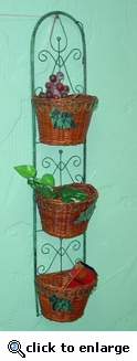 Wrought Iron Wicker Wall Basket (UPS $10) (40% Off!)