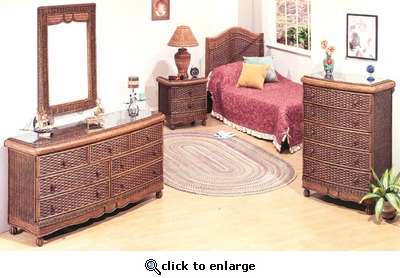 Moroccan Queen Bedroom Set of 4 (MF)