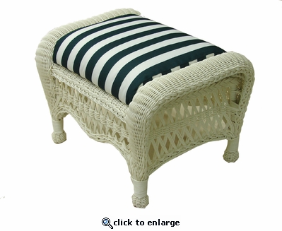 Contour Ottoman Cushion (UPS $18) with Fran's Indoor/Outdoor Fabric