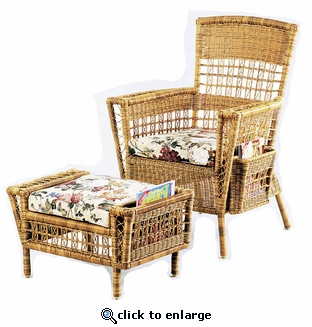 Patio Reading Set of 2: Chair & Ottoman (UPS $95)