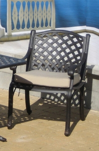 Cast Aluminum: Lancaster Dining Chair Cushions
