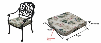 Cast Aluminum: Springfield Dining Chair Cushions