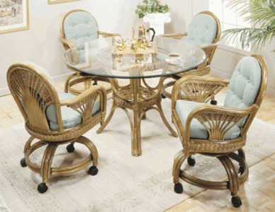 Dining Chairs: Fan Swivel Dining Chair Cushions