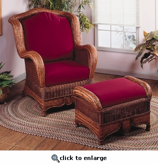 Wing Chair and Ottoman (MF)