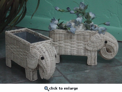 Elephant Planters Set/2 (UPS $10) (40% Off!)