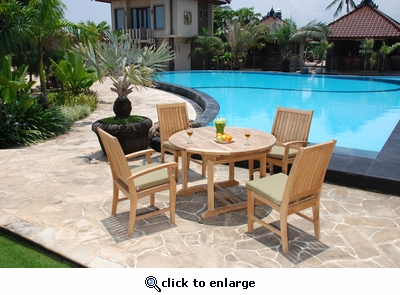 Briena Round Dining Set of 5 with Arm Chairs (MF)