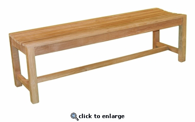 Backless 5' Teakwood Bench (UPS $65)