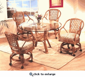 Royal Swivel Dining Chair Cushions Set/2 with Fran's Indoor/Outdoor Fabrics (UPS $35)