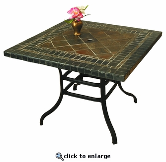 Terrace Square Stone Table (MF)
