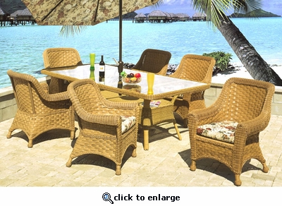 Tahiti Rectangular Dining Set/7 (40% Off!)