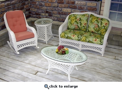 Lanai 4 Piece Set (Sunroom Furniture) (35% Off!)