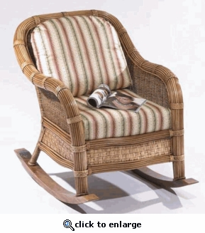 Cancun Rocker Cushions with Fran's Indoor/Outdoor Fabrics (UPS $25)