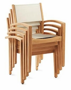 Teak & Sling Dining Chair (UPS $65)