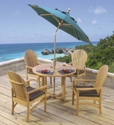Hampton Teak Adirondack Dining Set of Five