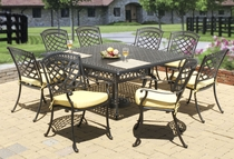 "Blanca 60"" Square Dining Set of Nine"