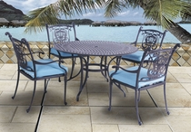 "Castle 42"" Round Dining Set of Five"