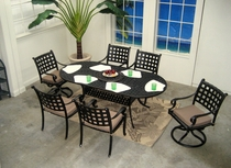 "Chateau 84"" x 42"" Oval Dining Set of 7 (MF) (15% Off!)"