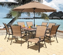 "Providence 60"" Square Dining Set/9 (MF)"