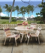 "Bayshore Strap 48"" Round Dining Set of Five (MF) (15% Off!)"