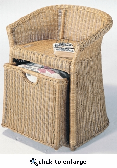 Wicker Storage Hamper Chair (UPS $45)