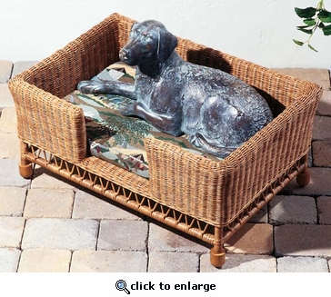 Wicker Pet Bed (UPS $35)