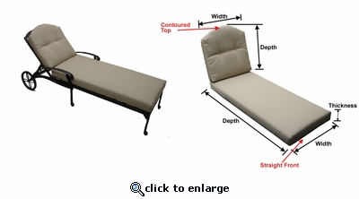 Springfield Chaise Lounge Cushions with Fran's Indoor/Outdoor Fabrics (UPS $60)